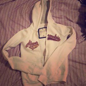 Abercrombie girl kid large white hoodies